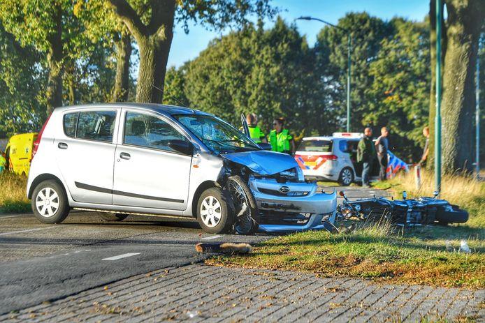 De situatie na het ongeluk in Wintelre.