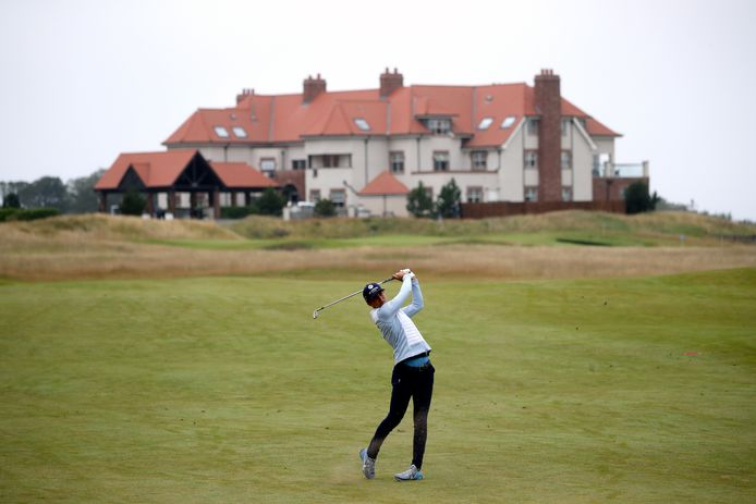 Netherlands' Anne van Dam on the 1st during day two of the Aberdeen Standard Investments Ladies Scottish Open at The Renaissance Club, North Berwick.