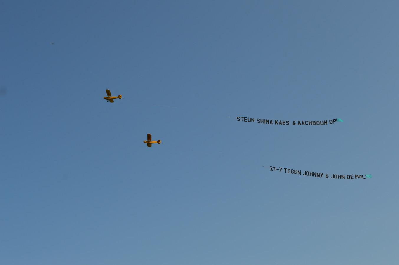 De vliegtuigjes boven Nederland vandaag.