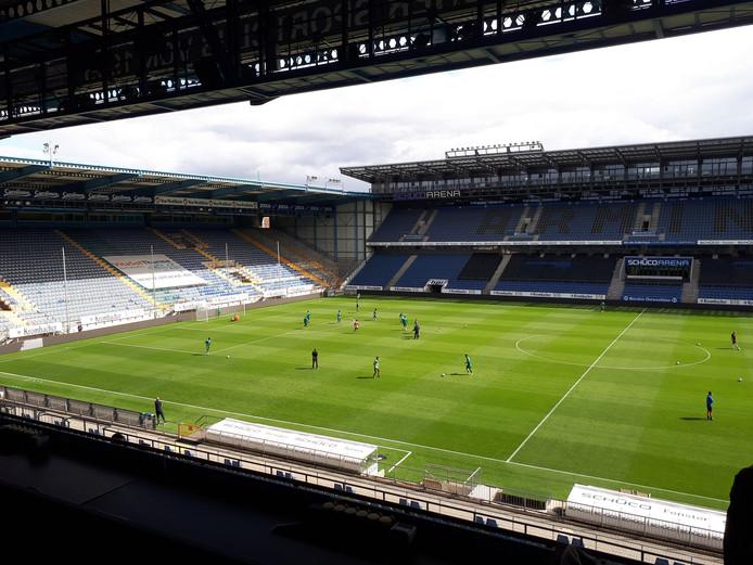 Het stadion van Arminia Bielefeld, waar PEC donderdag een oefenwedstrijd speelde.