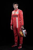 Carlos Sainz voortaan gekleed in het iconisch rood van Ferrari.