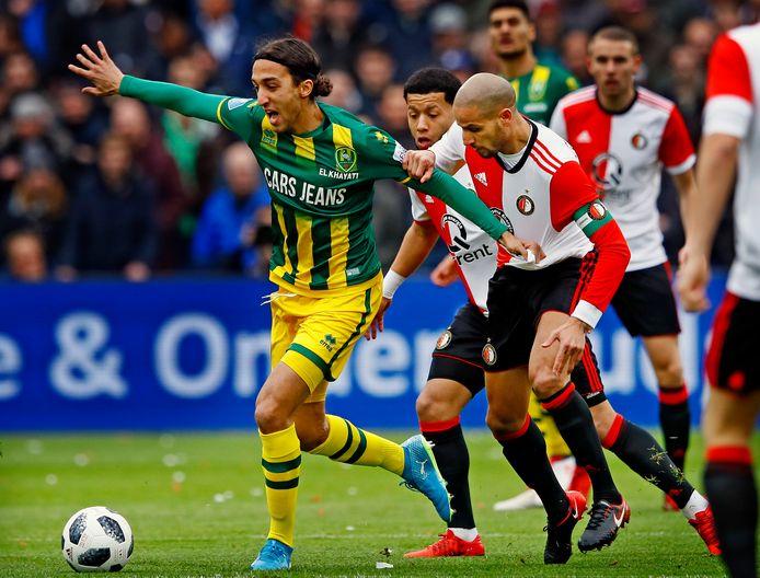 Nasser El Khayati houdt in zijn vorige Haagse dienstverband de Feyenoorders Karim El Ahmadi en Tonny Vilhena achter zich.