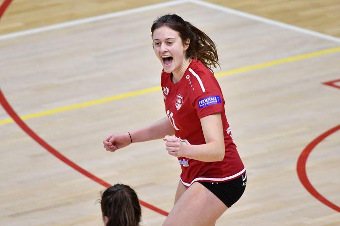 """Clara Wellens: """"We hadden veel zelfvertrouwen getankt uit onze vorige wedstrijd tegen de competitieleiders uit Gent."""""""