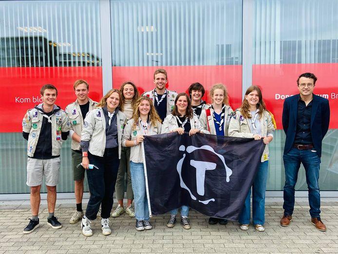 De Scouts van Tilleghem in Sint-Michiels Brugge.