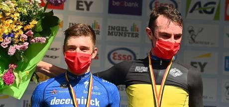 Lampaert troeft ploeggenoot Evenepoel af en is Belgisch kampioen tijdrijden