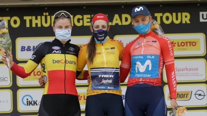 """Lotte Kopecky ritwinnaar én tweede in eindstand Thüringen Ladies Tour: """"Sterke nationale ploeg"""""""