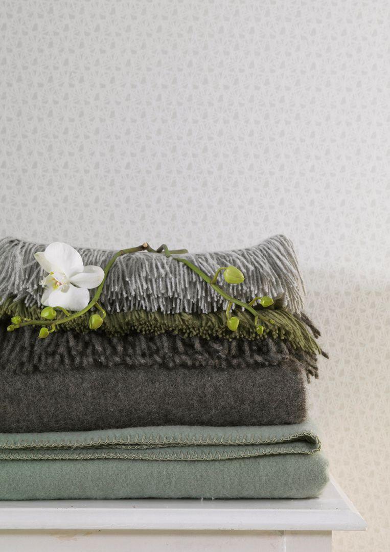 Wollen dekens van AaBe. Beeld
