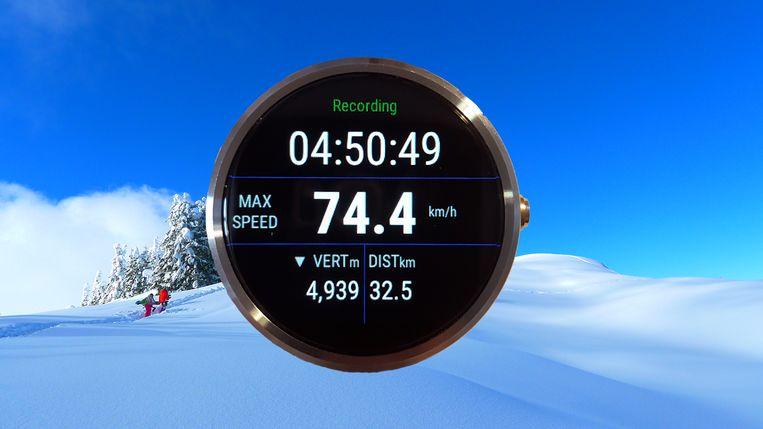 Ski Tracks heeft ook een smartwatch-app. Beeld Ski Tracks