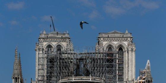 'Grote paraplu' moet Notre-Dame beschermen tegen de regen