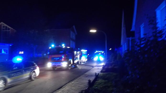 Grote inzet van brandweer en politie bij de middelbare school in Stadtlohn na brandmeldingen.