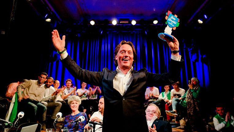 Beste raadslid van Nederland Johnas van Lammeren van de Partij voor de Dieren Beeld ANP
