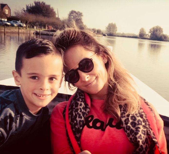 Eva met haar zoontje Jim