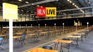HLN LIVE. In Flanders Expo in Gent gaan op dit moment de allereerste examens sinds de lockdown door, mét veilige afstand