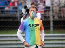 Vettel na regenboog-statements in Hongarije: 'Ik krijg hier misschien een straf voor'