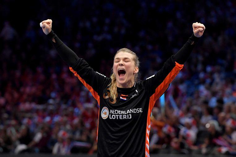 Tess Wester speelt met de Nederlandse handbalsters op het WK in Japan Beeld ANP