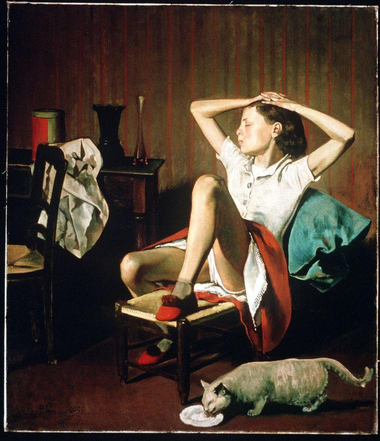 Thérèse Dreaming door Balthus (1938). Beeld afp