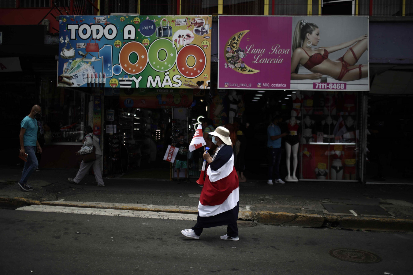 Straatbeeld van San José, Costa Rica (archiefbeeld)
