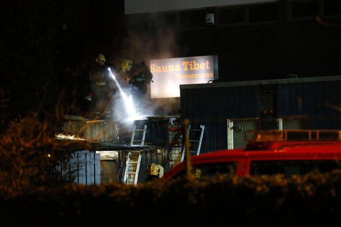 Korte brand bij sauna Tibet in Eindhoven.