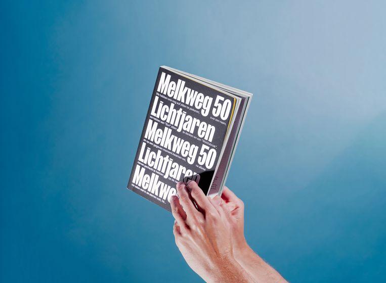 Jubileumboek van de Melkweg in Amsterdam. Beeld Joost Termeer