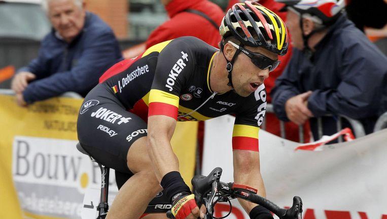 Jens Debusschere verdedigt zondag zijn Belgische driekleur