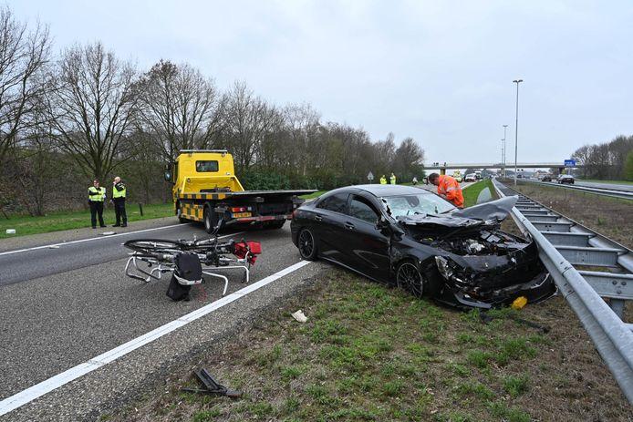 Ongeval op de A58 bij Gilze.
