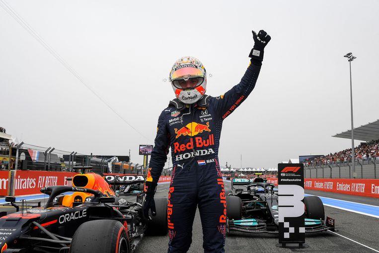 Max Verstappen start zondag voor de tweede keer dit seizoen vanaf de meest ideale plek. Beeld AFP