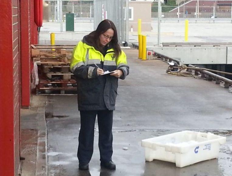 Fitzpatrick tijdens een werkdag bij Marine Scotland