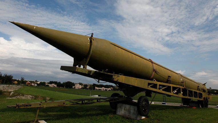 Een gedesactiveerde ballistische raket in Havana. Beeld REUTERS