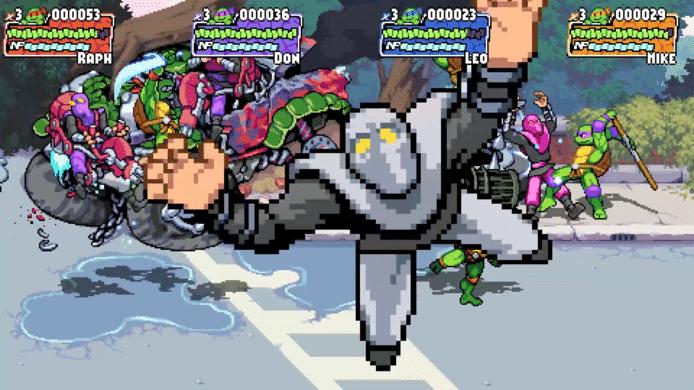 Dankzij de krachtigere gamehardware van vandaag zijn er ook veel blitsere effecten mogelijk in 'Shredder's Revenge'.