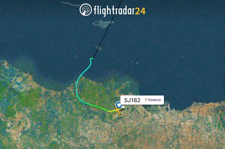 Gambar dari Flightradar24.com.  Pesawat menghilang dari radar sesaat setelah lepas landas.  Foto Flightradar24.com melalui AP
