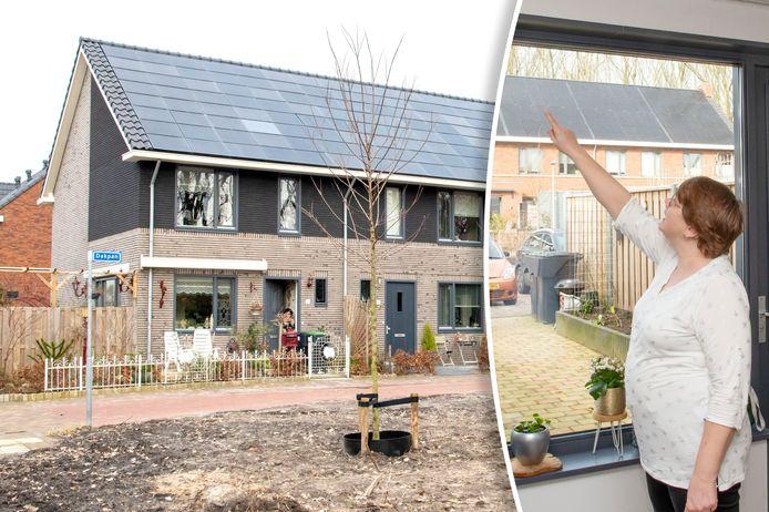 Bewoonster Gerlinda van der Wal toont een van de vele gebreken in de Slokkerwoning in Ermelo die zij van Uwoon huurt.