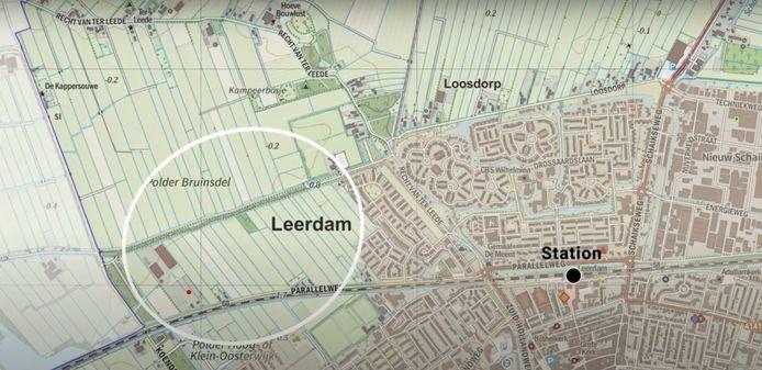 Het gebied waar de nieuwe woonwijk moet komen.