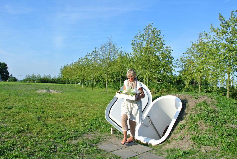 Nederlandse uitvinding: de Groundfridge, een inloopfrigo die geen stroom nodig heeft. Beeld dm