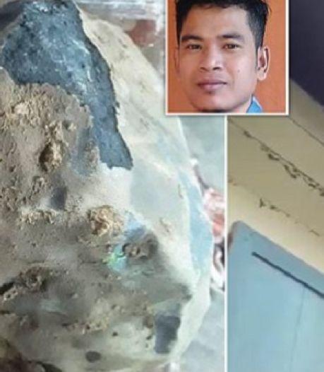 Man (33) wordt miljonair nadat meteoriet door zijn dak knalt