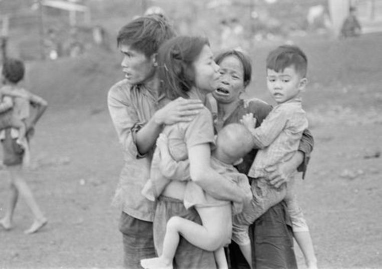 Een archiefbeeld uit de Vietnamoorlog Beeld rv