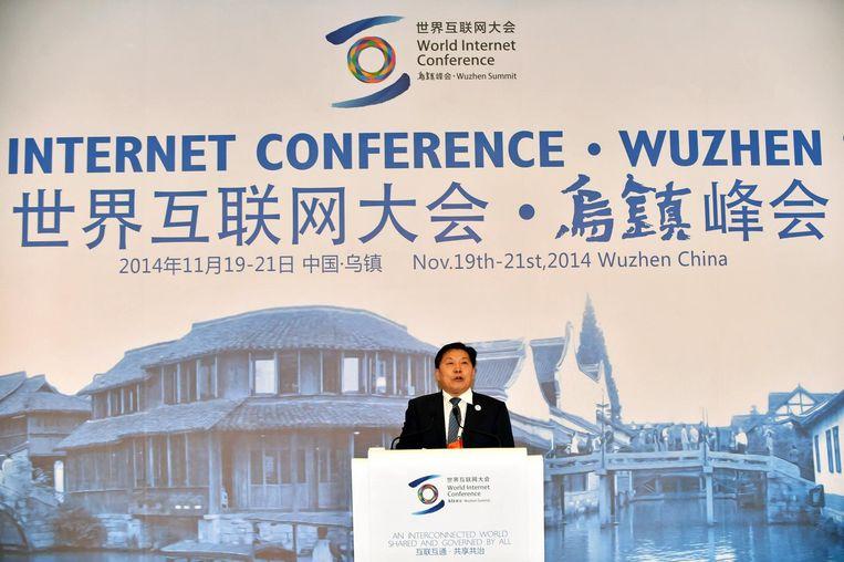 Lu Wei tijdens een conferentie in 2014 Beeld epa