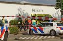 De hulpdiensten ter plaatse in Kaatsheuvel.