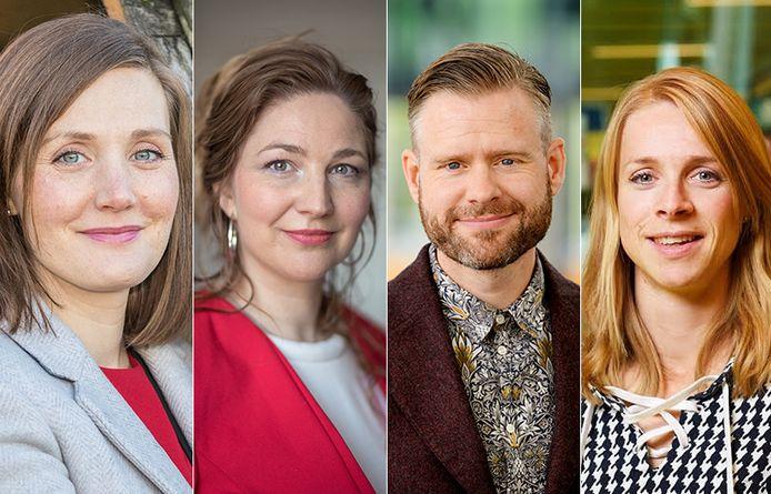 Het 'dream team', v.l.r. Jessica Duncan, Martine Veldhuizen, Daniel Lakens en Jannie Wijnen.