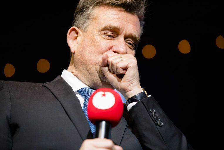 Emile Roemer bij zijn afscheid tijdens het 23e landelijke partijcongres van de SP.  Beeld null