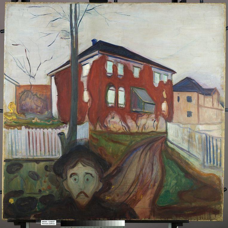 Edvard Munch, Rode wingerd, 1898-1900. In bezig van het Munchmuseum Oslo. Beeld Munch