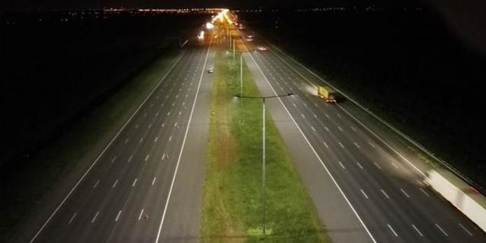 Snelwegverlichting op de A2 bij Breukelen.