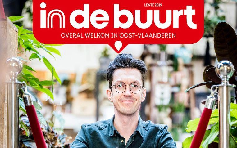 Cover van het eerste nummer van In De Buurt Oost-Vlaanderen dat op 30 april verschijnt.