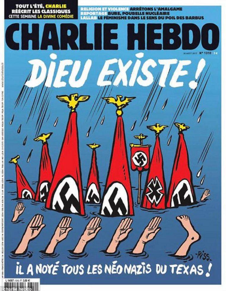De bewuste cover. Beeld Charlie Hebdo
