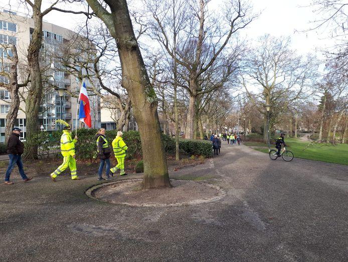 Demonstratie gele hesjes in Nijmegen.