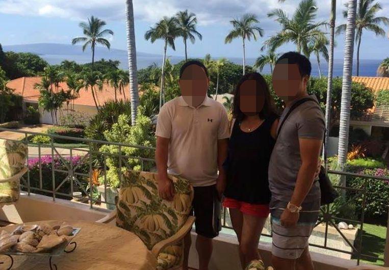 Het leidende trio achter de firma Sky Global: vader Ty Mey E., moeder Orn L. en zoon Jean-François E. Beeld Facebook