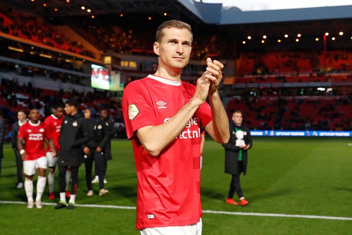 Daniel Schwaab nam afscheid bij PSV.