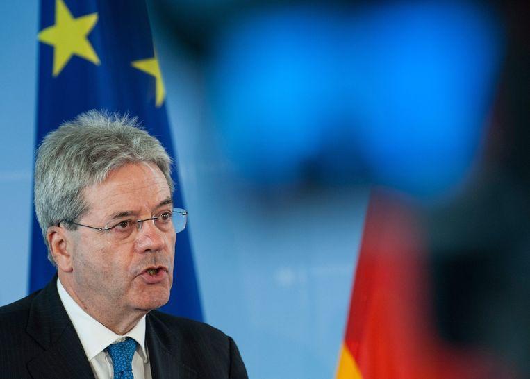 De Italiaanse minister van Buitenlandse Zaken, Paolo Gentiloni. Beeld EPA
