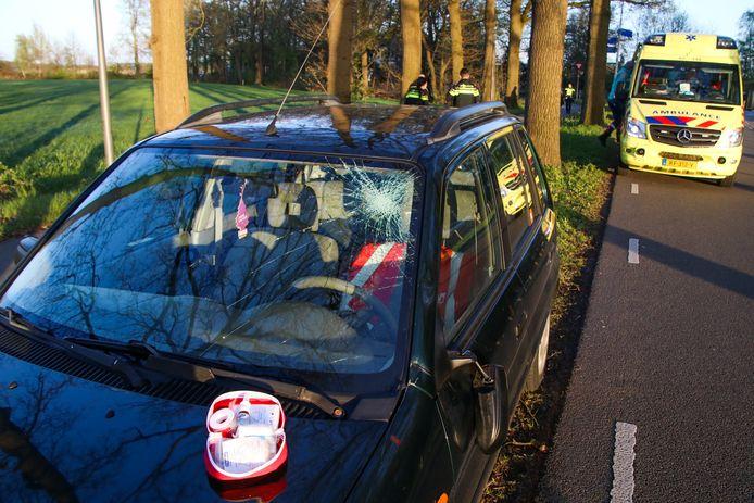 Een ster in de voorruit van de auto in Laag-Soeren.