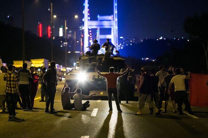 De nacht van de coup in 2016.