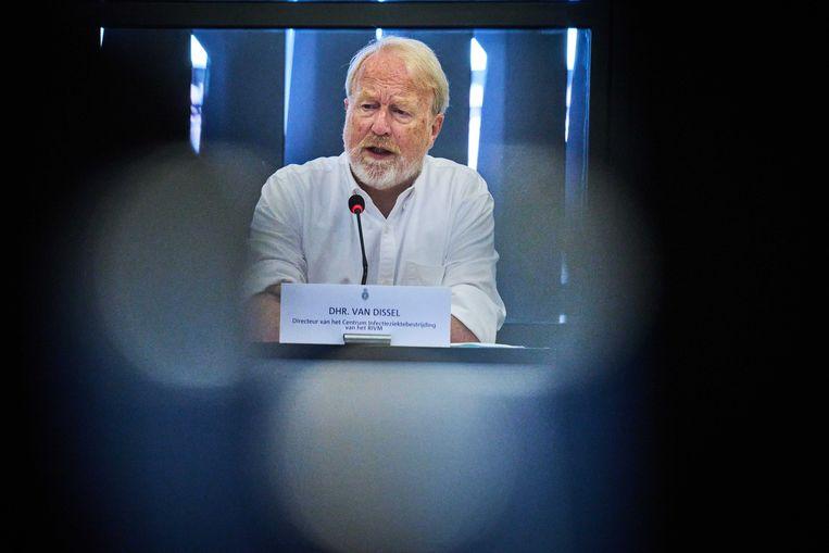 Jaap van Dissel, directeur RIVM, tijdens een technische briefing in de Tweede Kamer over het coronavirus.  Beeld ANP